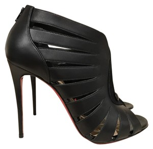 Christian Louboutin Toot Mignonne Stiletto Bootie Leather black Pumps