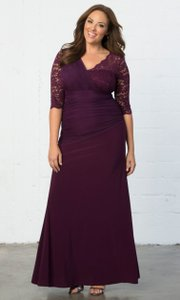 Kiyonna Imperial Plum Soiree Evening Gown Dress