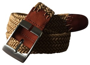 Tommy Bahama Straw and Leather Belt