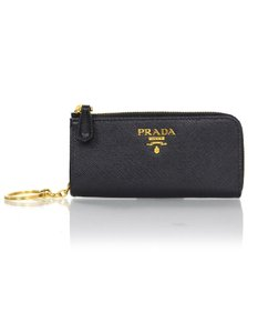 Prada Prada Black Saffiano Leather Keychain Pouch