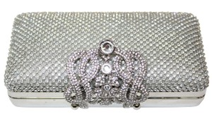 Vestures Flourish Small Silver Clutch