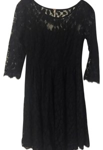 Free People Black Lace Dress Dress