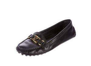 Louis Vuitton Lv Speedy Damier Canvas Moccasins BLACK LOUIS VUITTON LOGO DRIVING SHOES 41 11 Flats