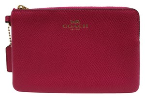 Coach Nwt Pink 8895532659715 Wristlet in GOLD/PINK RUBY