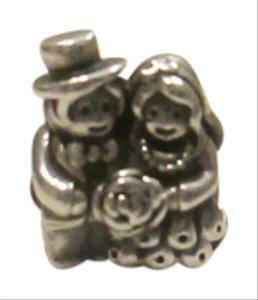 PANDORA Pandora Mr and Mrs, Bride and Groom Charm, #791116