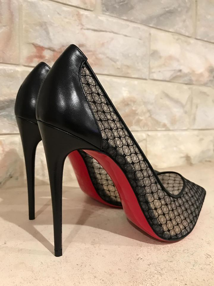 ab521ed011 Christian Louboutin Follies Lace Mesh Pigalle Stiletto black Pumps Image  11. 123456789101112