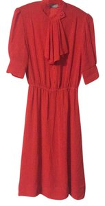 Vintage Red Pinstripe Dress Dress