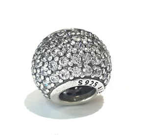 PANDORA CRYSTALS BALL CHARM IN STERLING SILVER