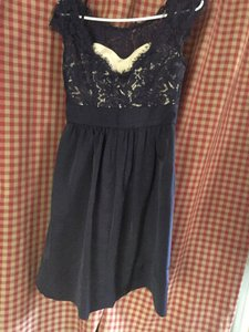 Eliza J Navy Eliza J Lace And Faille Dress Dress