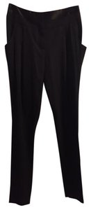 BCBGMAXAZRIA Satin Tuxedo Pocket Detail Trouser Pants black