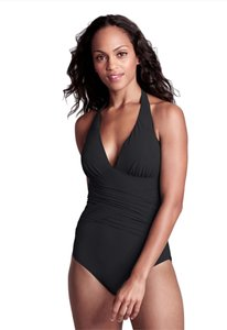 Lands End Shape & Enhance Halter One Piece Swimsuit
