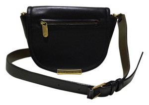Marc by Marc Jacobs Leather Small Messenger Front Flap Cross Body Bag