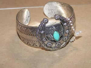 Reduced! Squash Blossom Cuff Bracelet Free Shipping