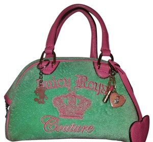 Juicy Couture Satchel in Pink and light green