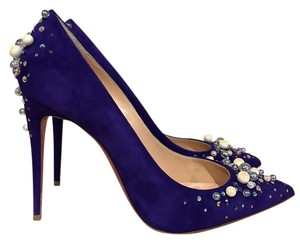 Christian Louboutin Candidate Pearl Stiletto Suede Pigalle purple Pumps