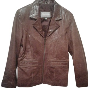 Wilsons Leather Brown leather Leather Jacket