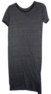 Dark Gray, Black Collar Maxi Dress by Forever 21 T-shirt Comfortable Soft