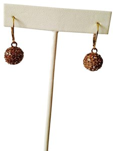 Anne Klein Gold-Tone Topaz Fireball Drop Earrings