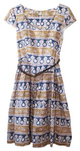 Corey Lynn Calter short dress gold, blue, pink Anthropologie on Tradesy