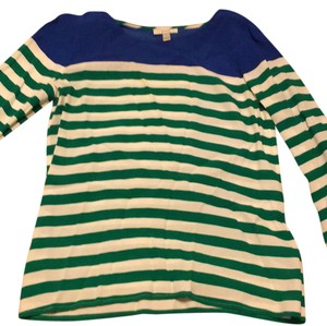 J.Crew Top green and blue