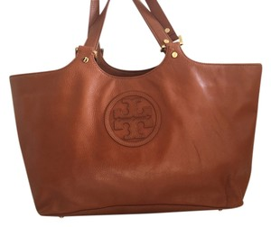 Tory Burch Handbag Leather Tote in Cognac