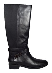 Coach Zipper Black Boots