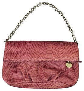 Ann Taylor LOFT Leather Rose Pink Clutch