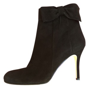 Kate Spade Suede Party Classic Stiletto Black Boots