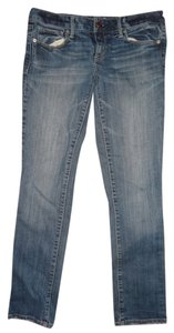American Eagle Outfitters Skinny Light Wash Stretch Skinny Jeans-Medium Wash