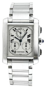 Cartier Chronoflex Tank 2303 Stainless Steel Watch