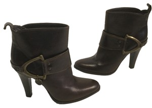 Miss Sixty Front Made Italy E36 Brown all leather with metal stirrups Italian E 36 ankle Boots