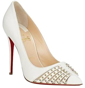 Christian Louboutin Heels Cream White Pumps