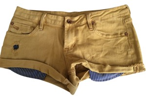 Quiksilver Cut Off Shorts Mustard