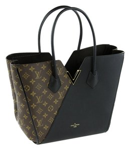 f52993085 Louis Vuitton Kimono Monogram Black Canvas Leather Tote - Tradesy