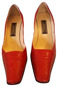 J. Renee Alligator RED Pumps
