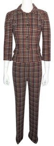 David Meister DAVID MEISTER Wool Houndstooth Jacket / Wide Leg Trouser - Pant Suit