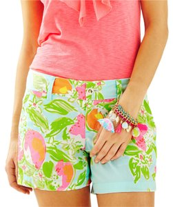 Lilly Pulitzer Mini/Short Shorts Blue, Pink, Yellow, Orange, White, Green