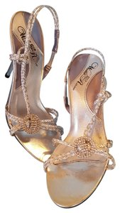 Other Heels Silver with rhinestones Formal