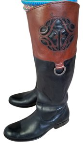 Frye Leather Two-tone Boot Black/Brown Boots