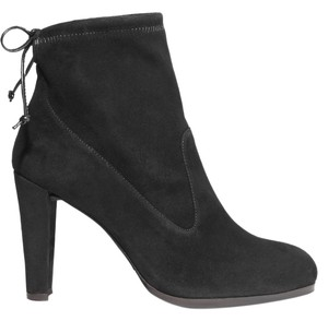 Stuart Weitzman Suede Ankle Leather Tie Boots