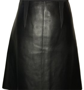 Sportmax Black Leather Skirt