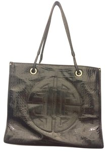 Antonio Melani Leather Designer Tote in Black