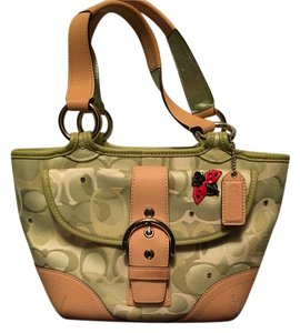 Coach Rare Satchel in Light green optic