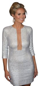 KAUFMANFRANCO Embellished Plunging Neckline Stunning Celeb Favorite Dress