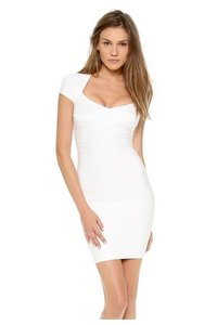 White Maxi Dress by Herv Leger