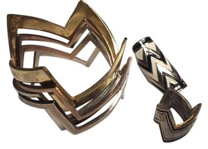 House of Harlow 1960 House of Harlow Zig Zag Jewelry Set: 2 Rings & Bangles