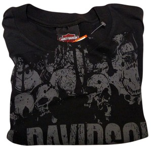 Harley Davidson T Shirt Black, Gray & White