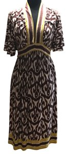 brown, white, green Maxi Dress by MILLY