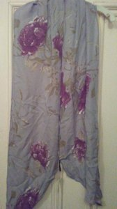 Ellen Tracy Ellen Tracy long silk scarf with flowers