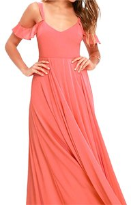 coral pink Maxi Dress by Lulu*s